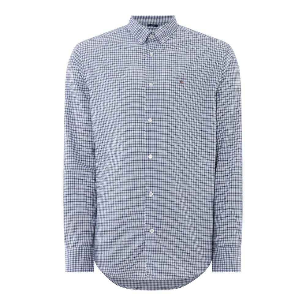 ガント GANT メンズ トップス シャツ【White Checked Shirt】blue