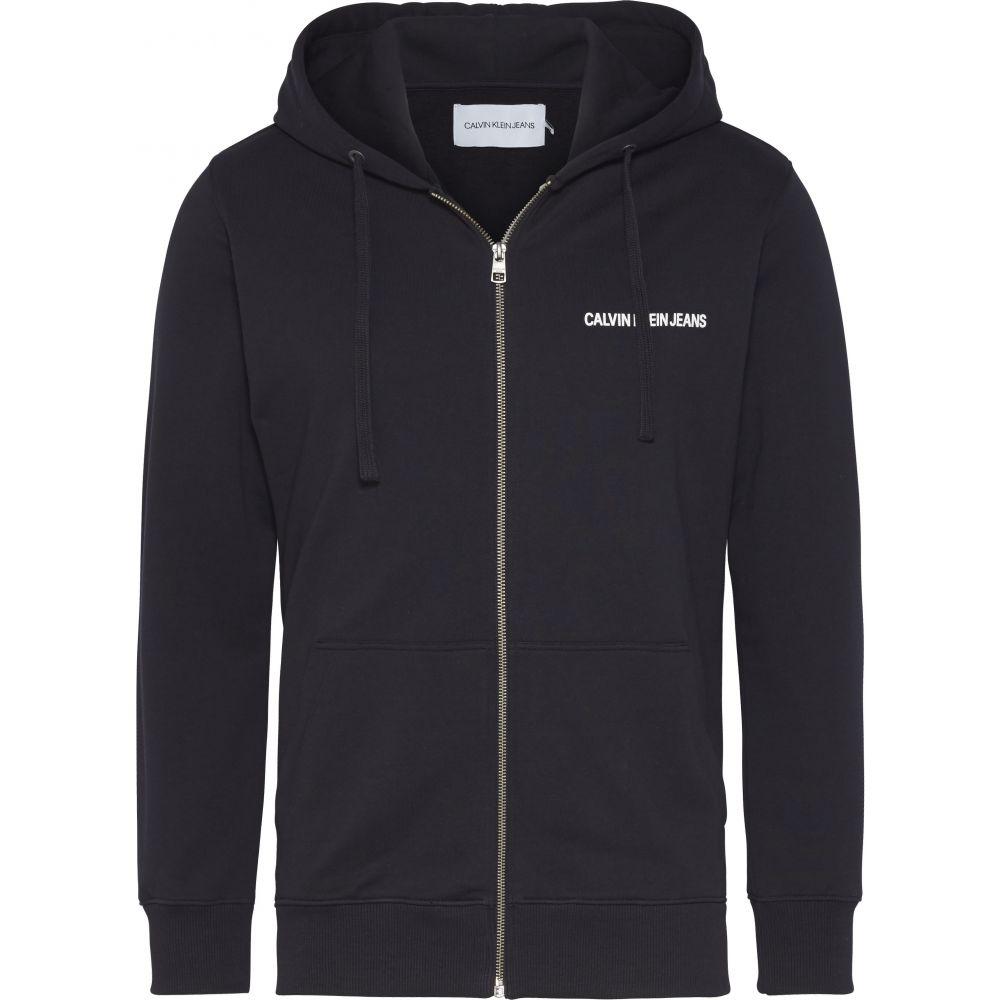 カルバンクライン Calvin Klein メンズ トップス パーカー【Ckjeans Institutional Logo Hoodie】black