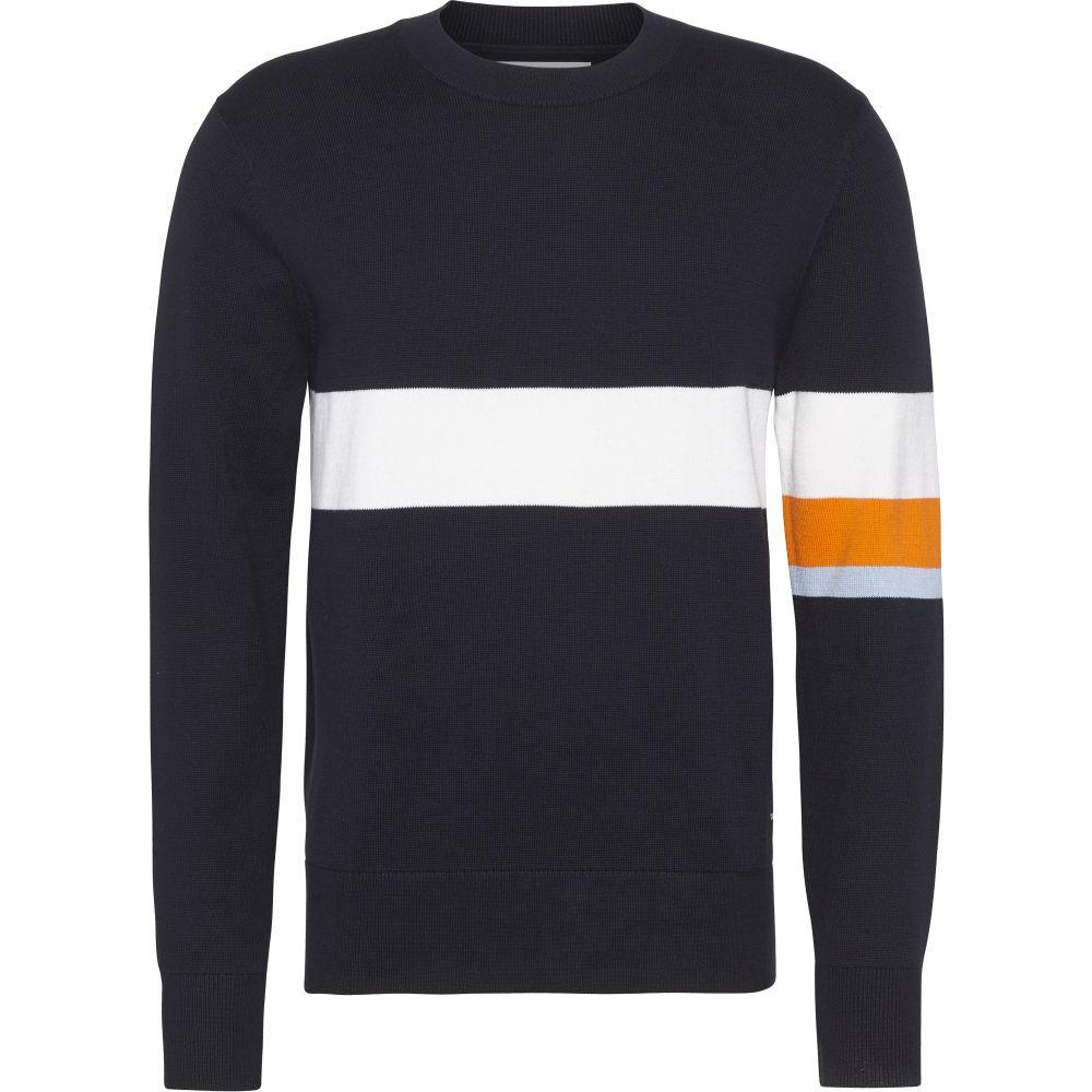 カルバンクライン Calvin Klein メンズ トップス スウェット・トレーナー【Ckjeans Colour Stripe Sweater】black