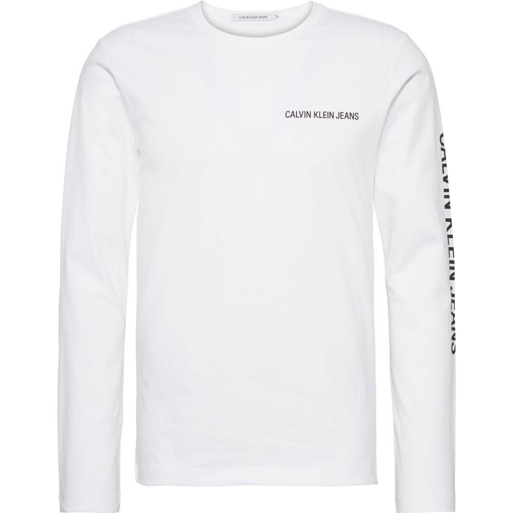 カルバンクライン Calvin Klein メンズ トップス 長袖Tシャツ【Ckjeans Long Sleeved Tee】white