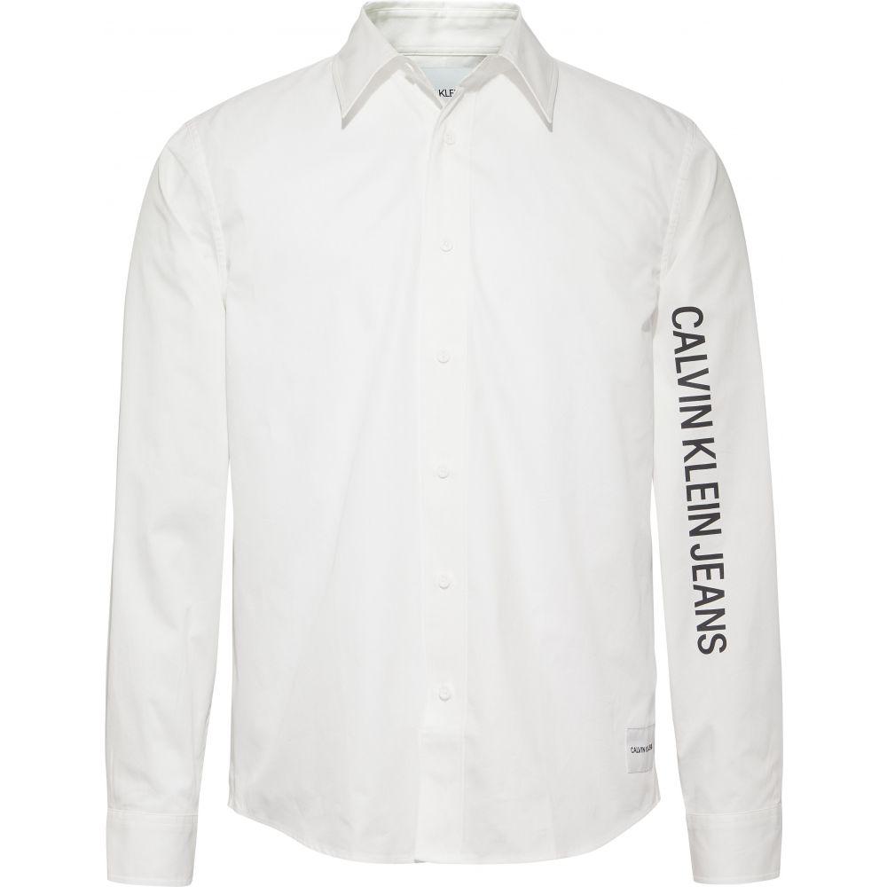 カルバンクライン Calvin Klein メンズ トップス シャツ【Ckjeans Twill Relaxed Shirt】white