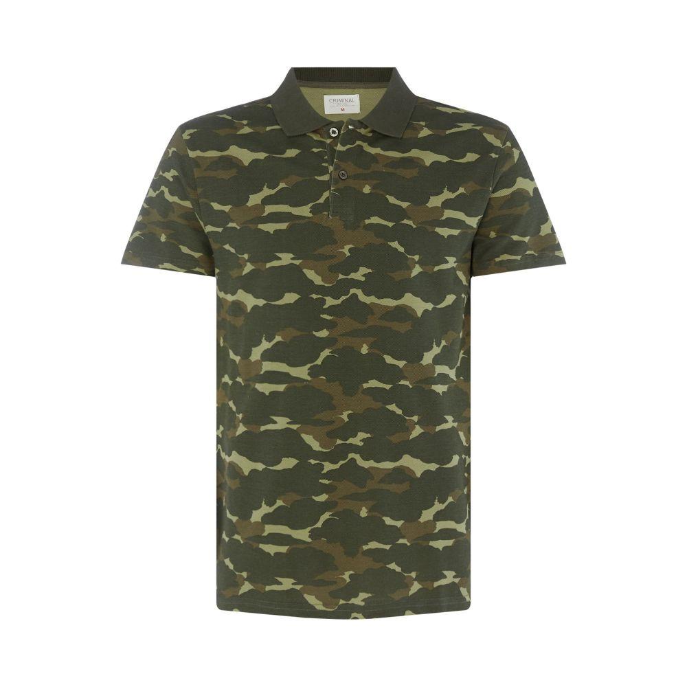 クリミナル Criminal メンズ トップス ポロシャツ【Camo Pique Polo Shirt】forest