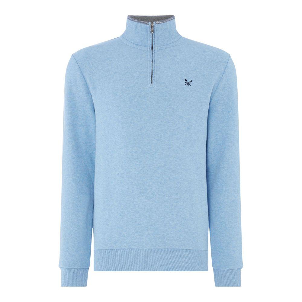クルークロッシング Crew Clothing メンズ トップス スウェット・トレーナー【Company Half Zip Sweat】blue