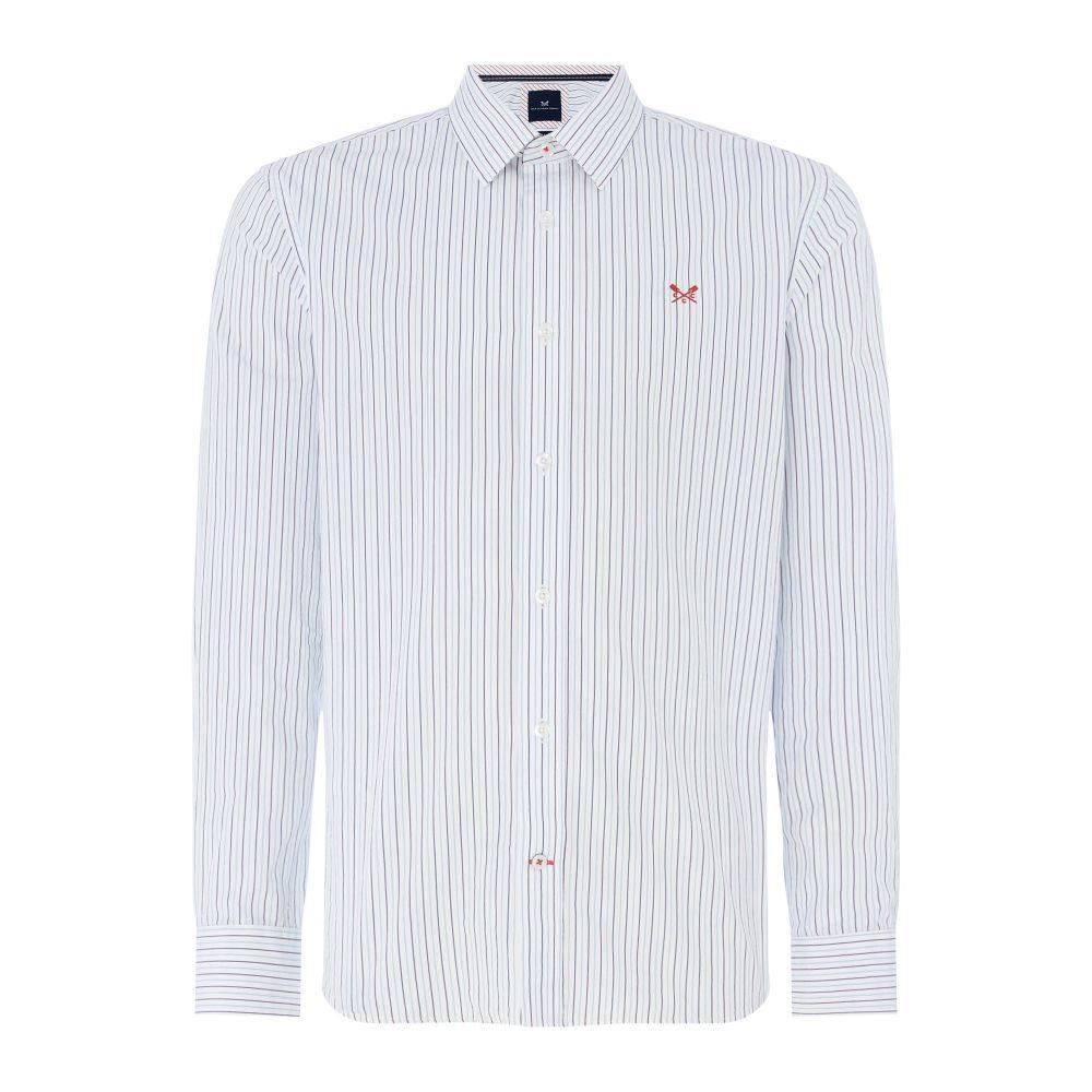 クルークロッシング Crew Clothing メンズ トップス シャツ【Company Stripe Shirt】blue