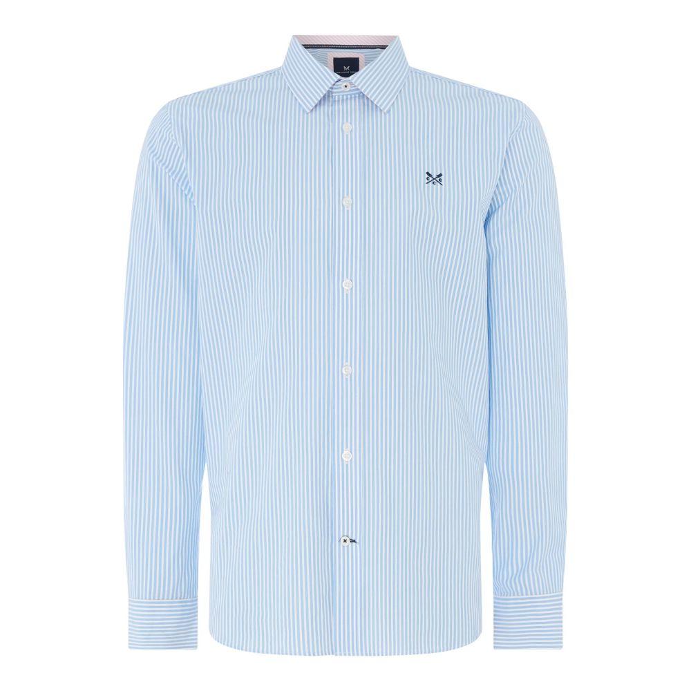 クルークロッシング Crew Clothing メンズ トップス シャツ【Company Stripe Shirt】sky