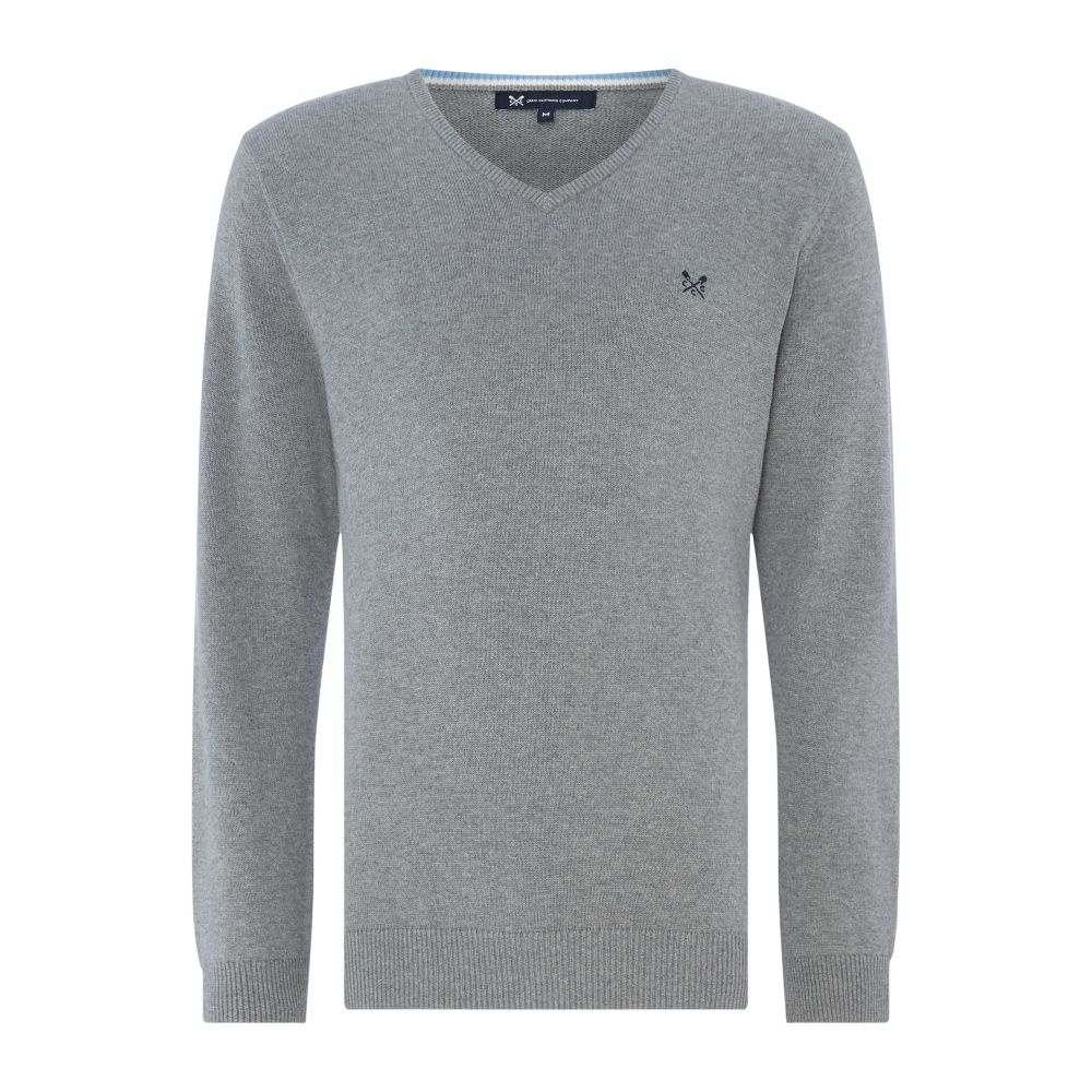 クルークロッシング Crew Clothing メンズ トップス ニット・セーター【Company Foxley V Neck】grey marl