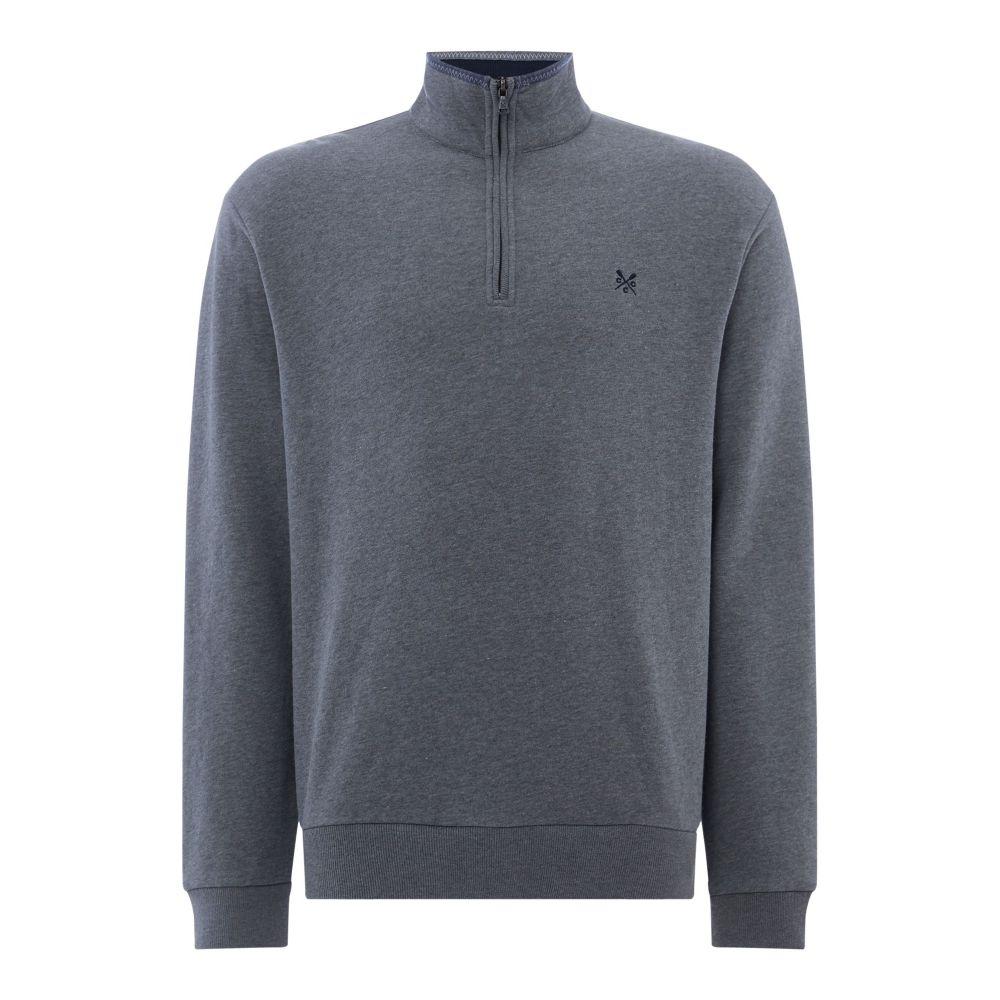 クルークロッシング Crew Clothing メンズ トップス スウェット・トレーナー【Company Half Zip Sweat】grey marl