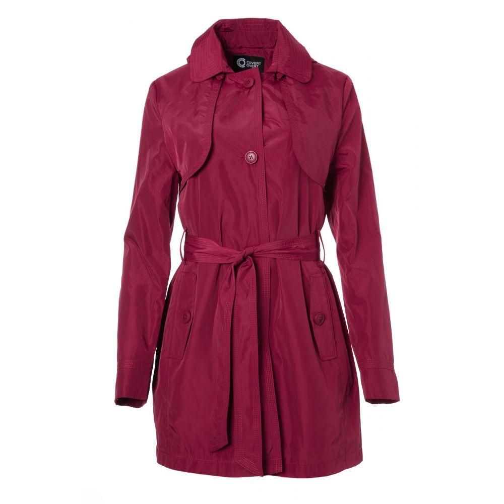 コヴェルト Covert Overt レディース アウター レインコート【Windbreaker Fabric Rain Coat】red
