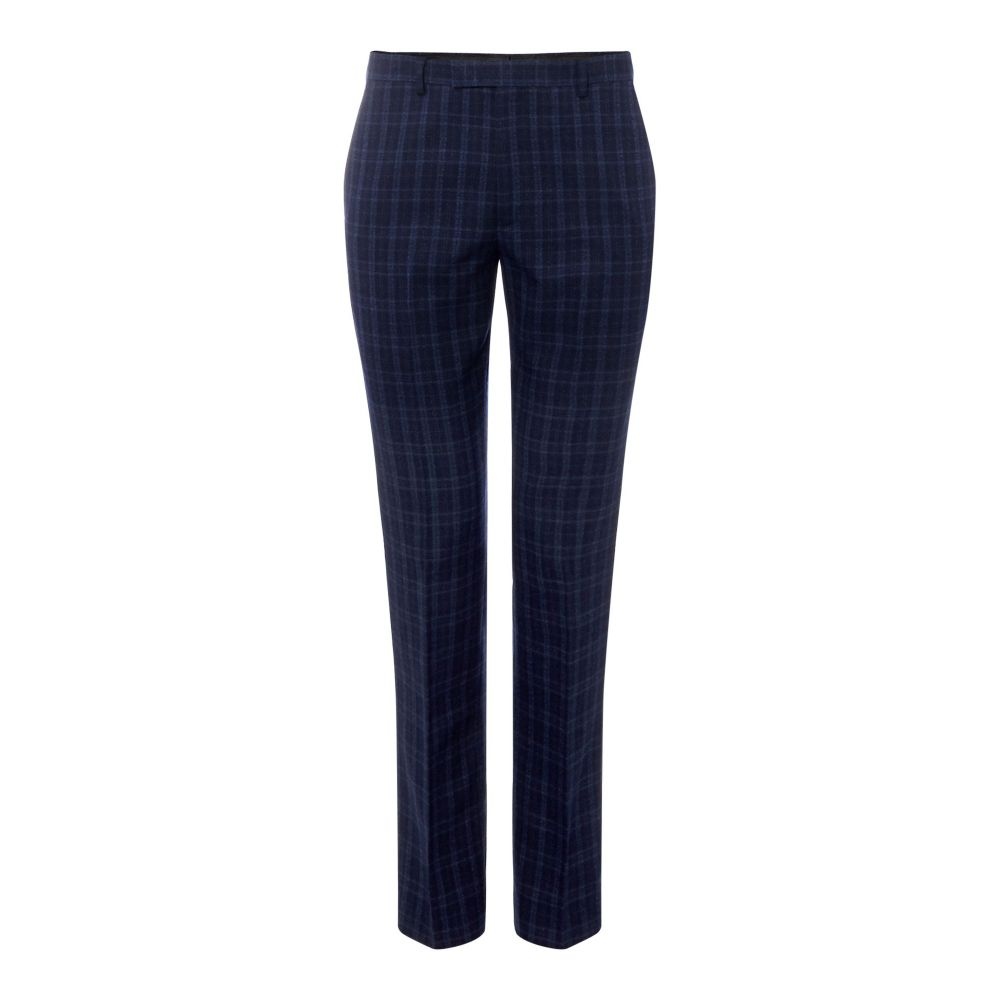 ケネス コール Kenneth Cole メンズ ボトムス・パンツ スラックス【San Fran Slim Fit Tonal Check Suit Trouser】navy