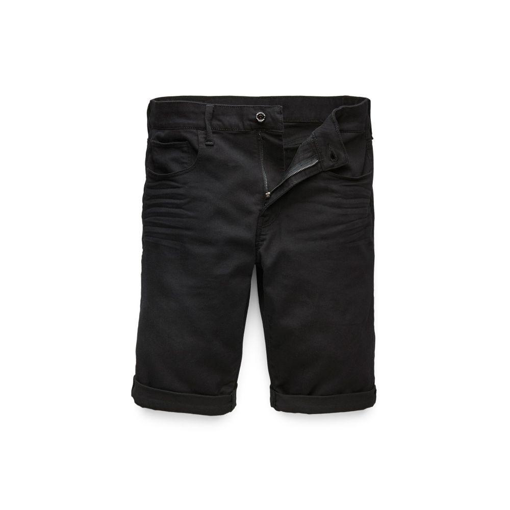 ジースター ロゥ G-Star メンズ ボトムス・パンツ ショートパンツ【3301 Slim 1/2-length Shorts】black