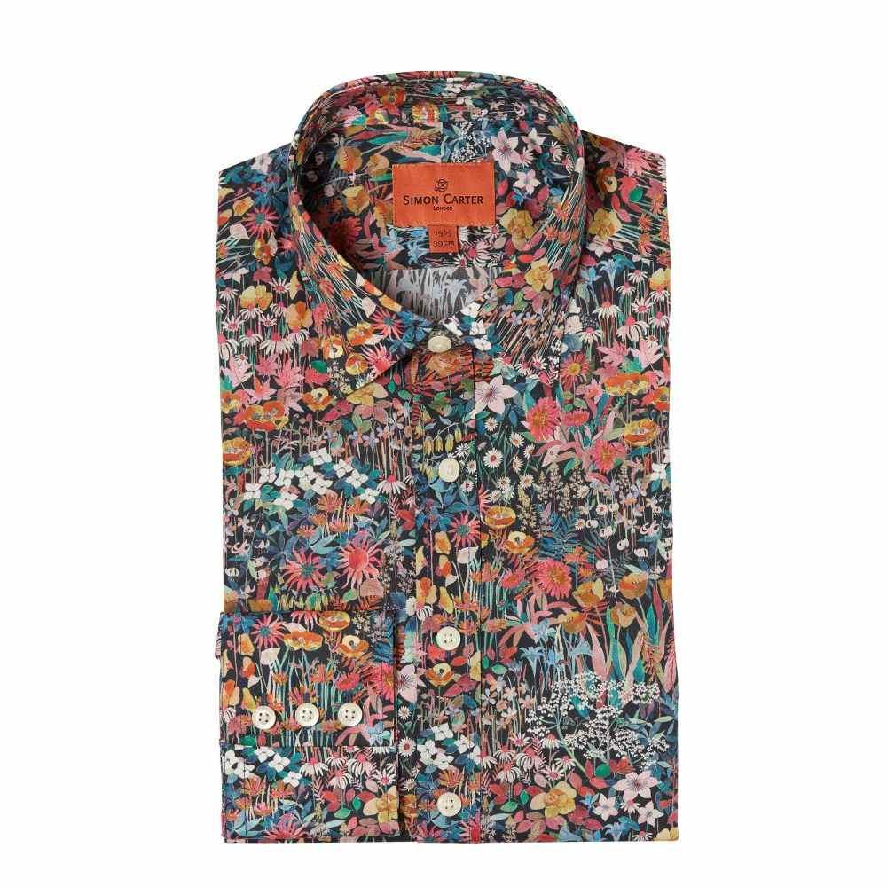 サイモン カーター Simon Carter メンズ トップス シャツ【Liberty Faria Flowers Small Print Shirt】multi-coloured