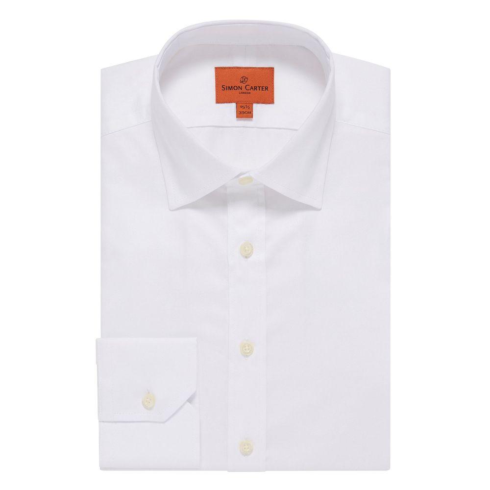 サイモン カーター Simon Carter メンズ トップス シャツ【Dragonfly Jacquard Shirt】white