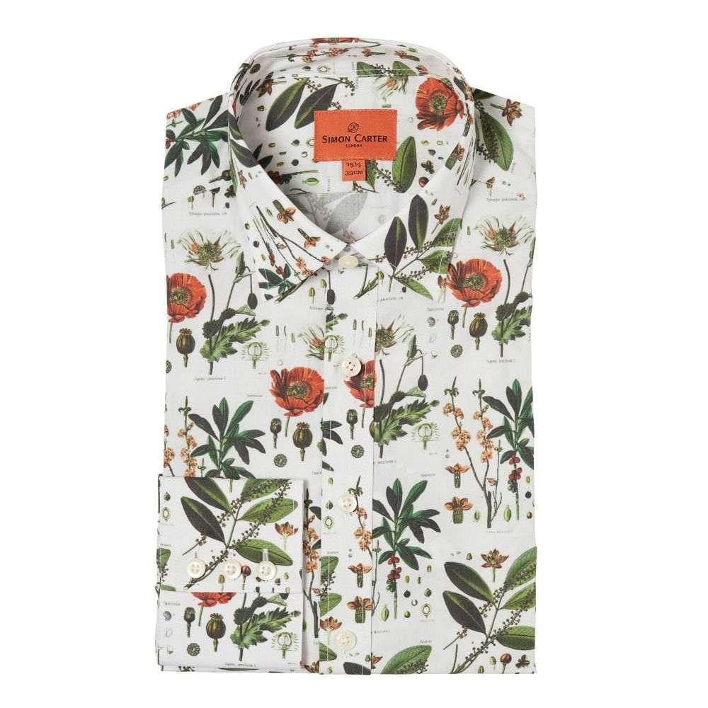 サイモン カーター Simon Carter メンズ トップス シャツ【Botanical Print Shirt】natural