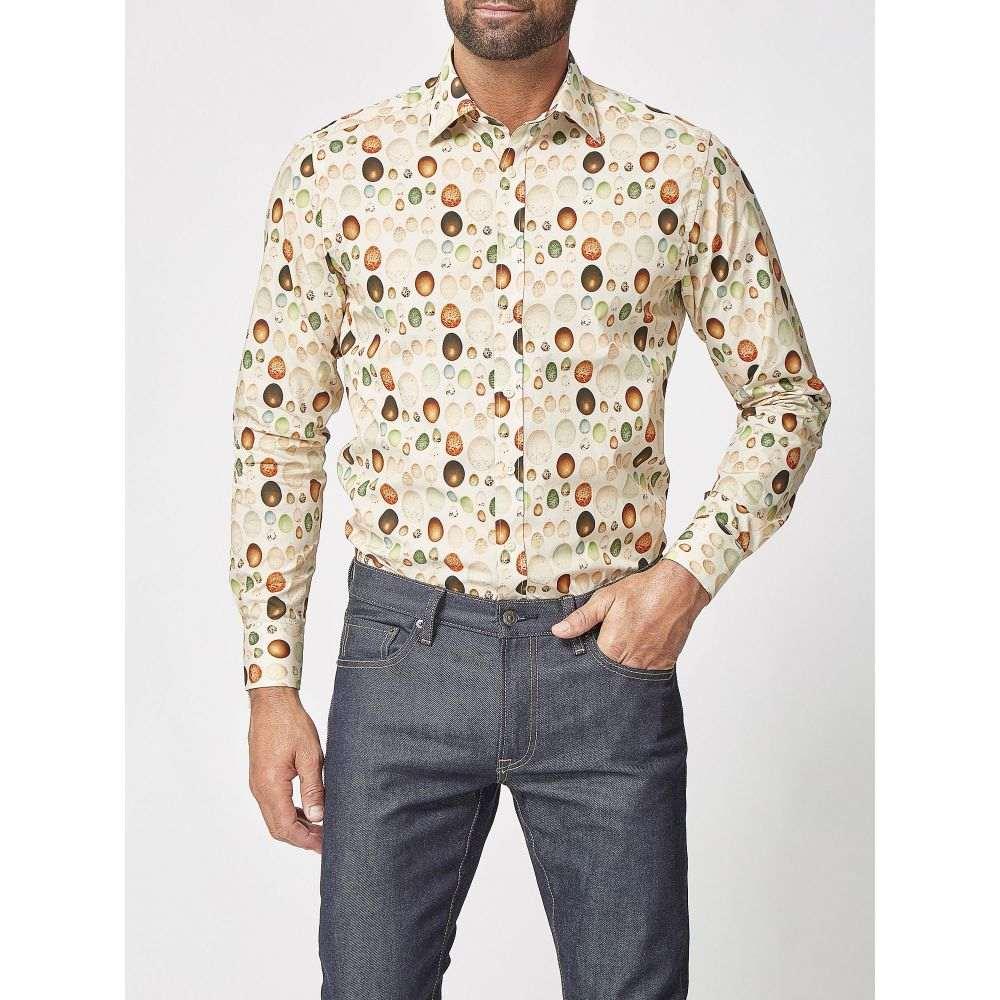 サイモン カーター Simon Carter メンズ トップス シャツ【Egg Print Shirt】natural