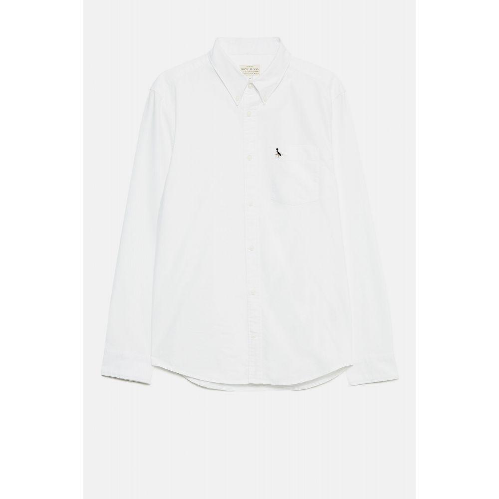 ジャック ウィルス Jack Wills メンズ トップス シャツ【Wadsworth Plain Oxford Shirt】white