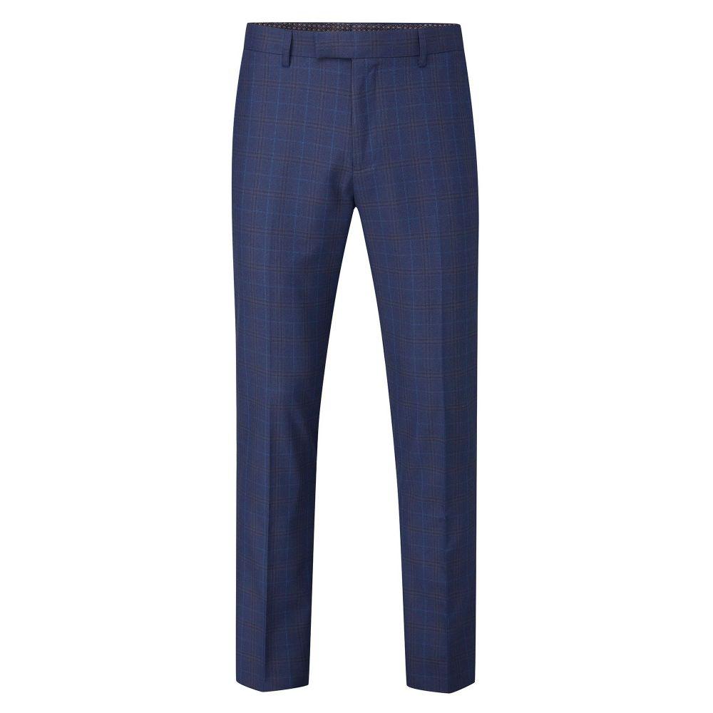 スコープス Skopes メンズ ボトムス・パンツ スラックス【Melville Tapered Fit Check Suit Trouser】blue