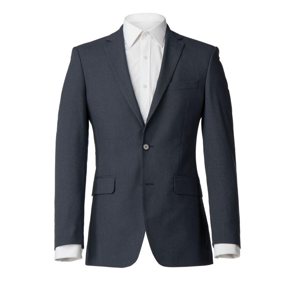 スコットアンドテイラー Scott & Taylor メンズ アウター スーツ・ジャケット【Acomb Regular Fit Navy Stripe Suit Jacket】navy