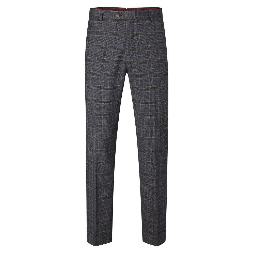 スコープス Skopes メンズ ボトムス・パンツ スラックス【Desmond Check Suit Tailored Trousers】charcoal