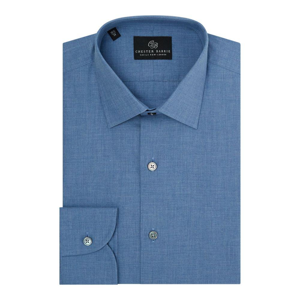 チェスター バリー Chester Barrie メンズ トップス シャツ【Chanbray Shirt】gleam blue