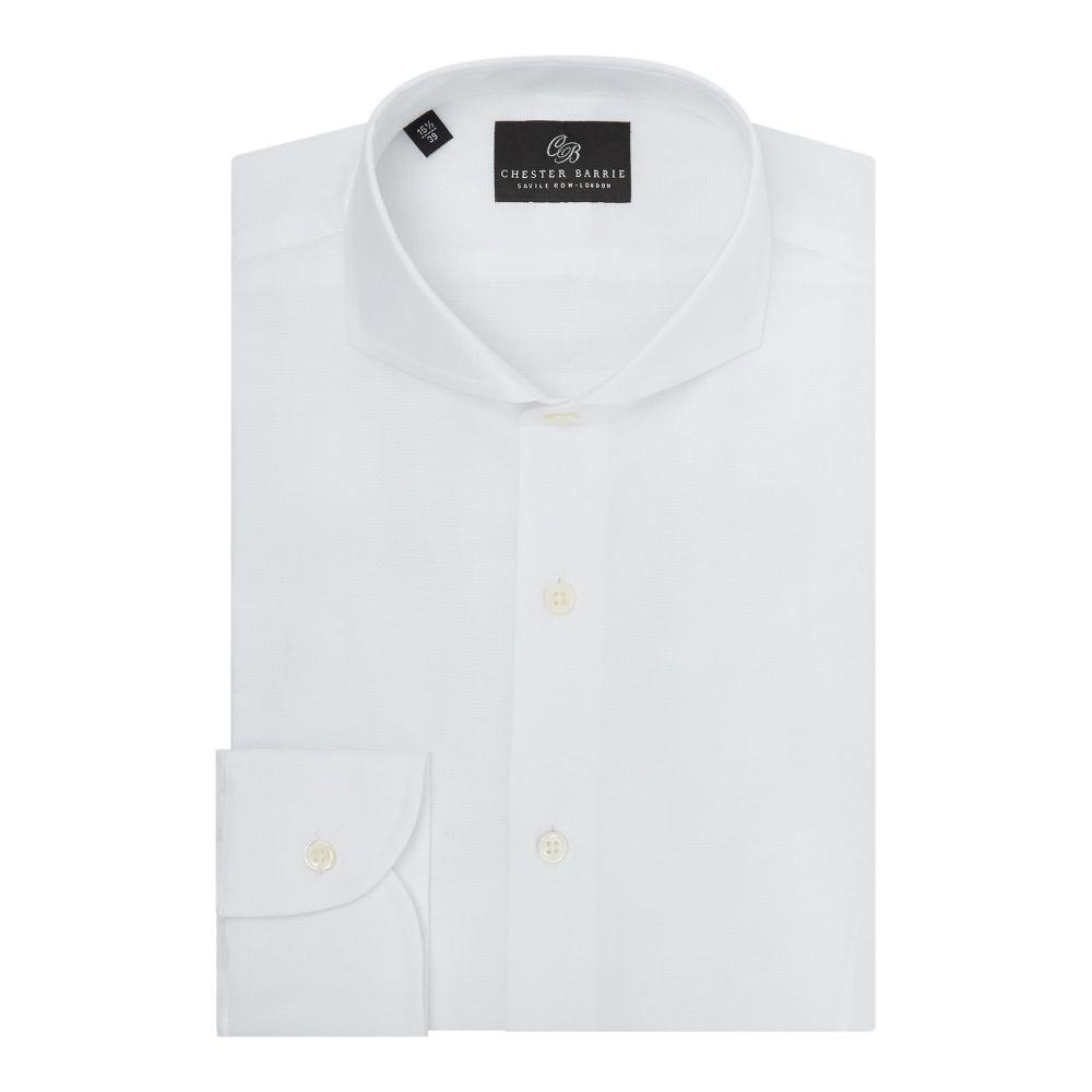 チェスター バリー Chester Barrie メンズ トップス シャツ【Pique Shirt】white