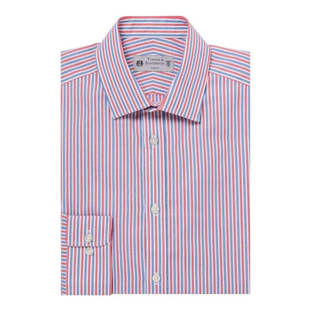 ターナー アンド サンダーソン Turner & Sanderson メンズ トップス シャツ【Ickworth Tri-colour Striped Shirt】white