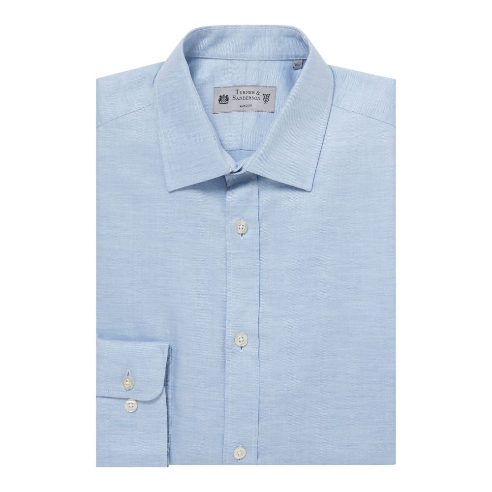 ターナー アンド サンダーソン Turner & Sanderson メンズ トップス シャツ【Hanbury Brushed Marl Shirt】sky blue