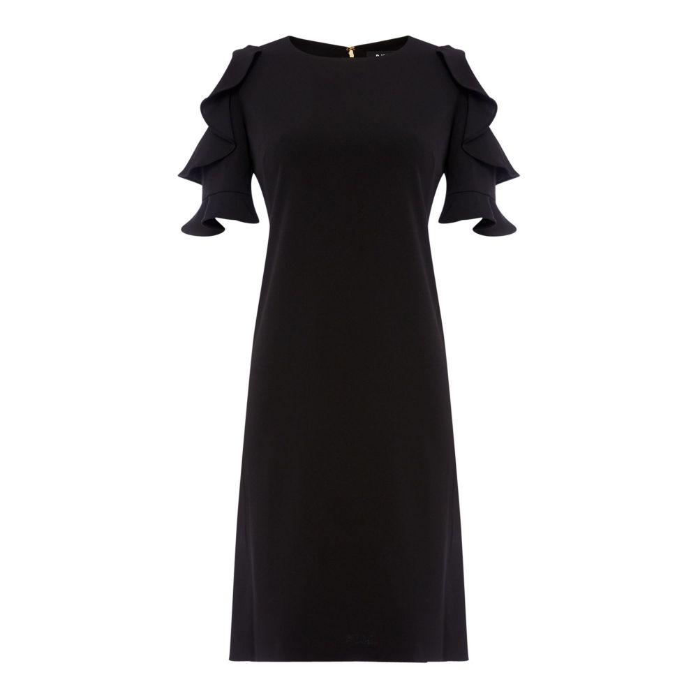 ダナ キャラン ニューヨーク DKNY レディース ワンピース・ドレス ワンピース【Ruffle Cold Shoulder Shift Dress】black