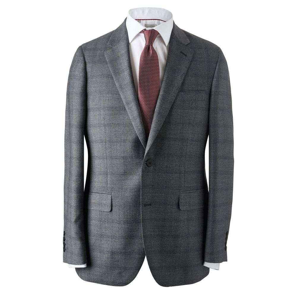 チェスター バリー Chester Barrie メンズ アウター スーツ・ジャケット【Overcheck Prince Of Wales Suit Jacket】charcoal