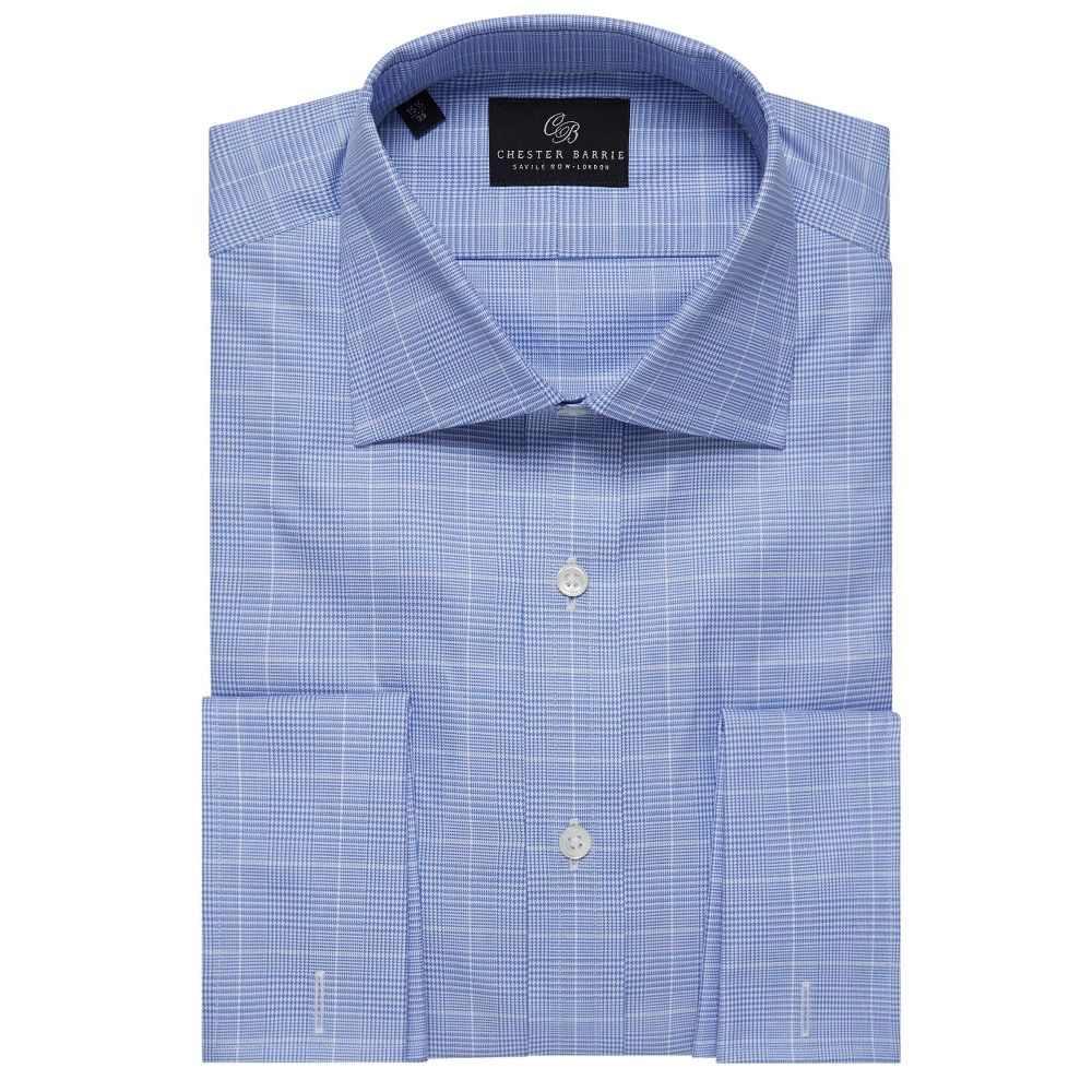 チェスター バリー Chester Barrie メンズ トップス シャツ【Prince Of Wales Check Shirt】blue