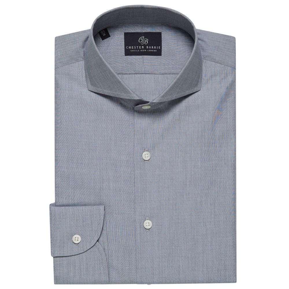 チェスター バリー Chester Barrie メンズ トップス シャツ【End On End Shirt】grey