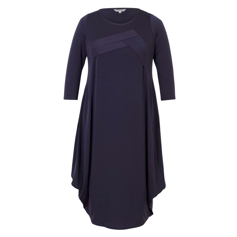 チェスカ Chesca レディース ワンピース・ドレス ワンピース【Tuck Detail Jersey Dress】grape