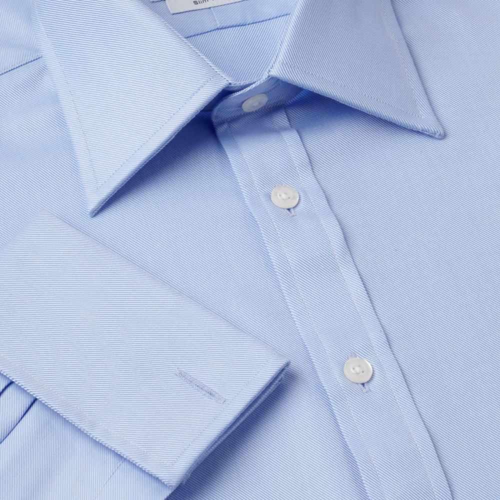 ティーエム レウィン TM Lewin メンズ トップス シャツ【Plain Luxury Twill Duke Of York Shirt】blue