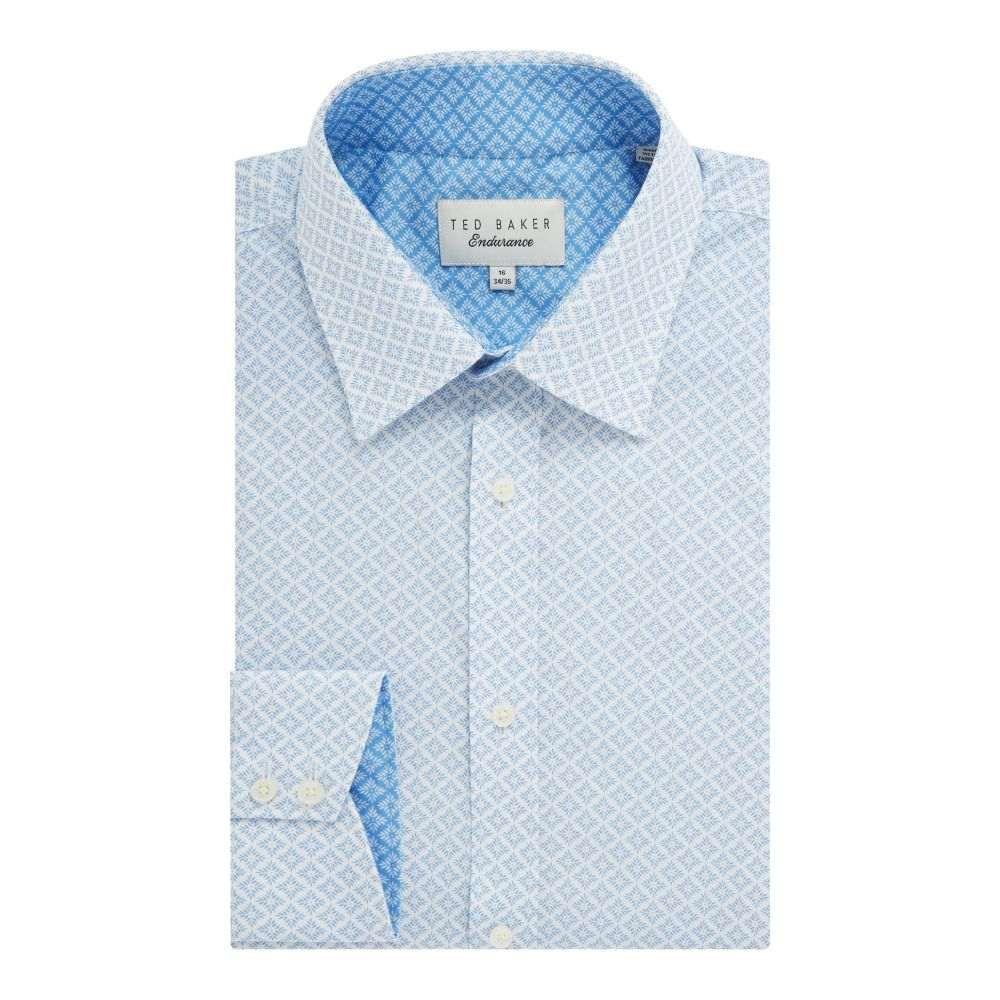 テッドベーカー Ted Baker メンズ トップス シャツ【Snaper Leaf Diamond Endurance Shirt】light blue