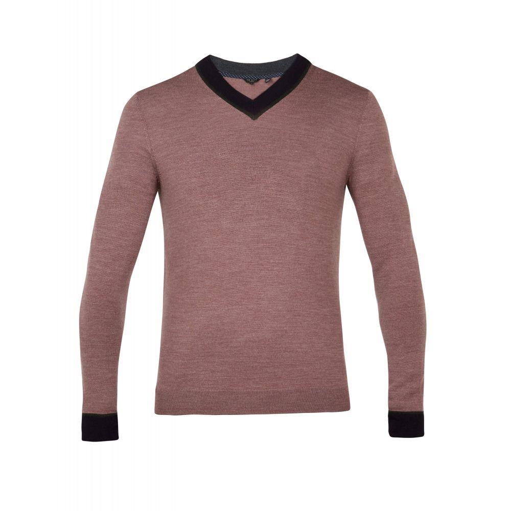 テッドベーカー Ted Baker メンズ トップス ニット・セーター【Coookie Wool V-neck Jumper】light pink