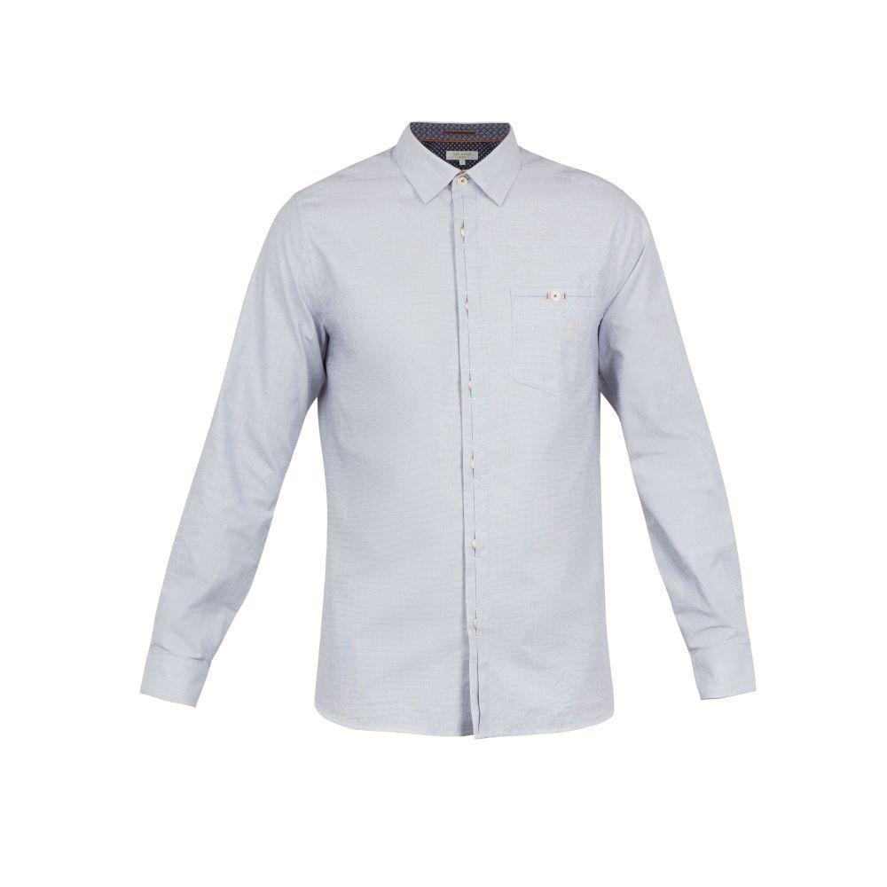 テッドベーカー Ted Baker メンズ トップス シャツ【Brixton Ls Oxford Shirt】blue