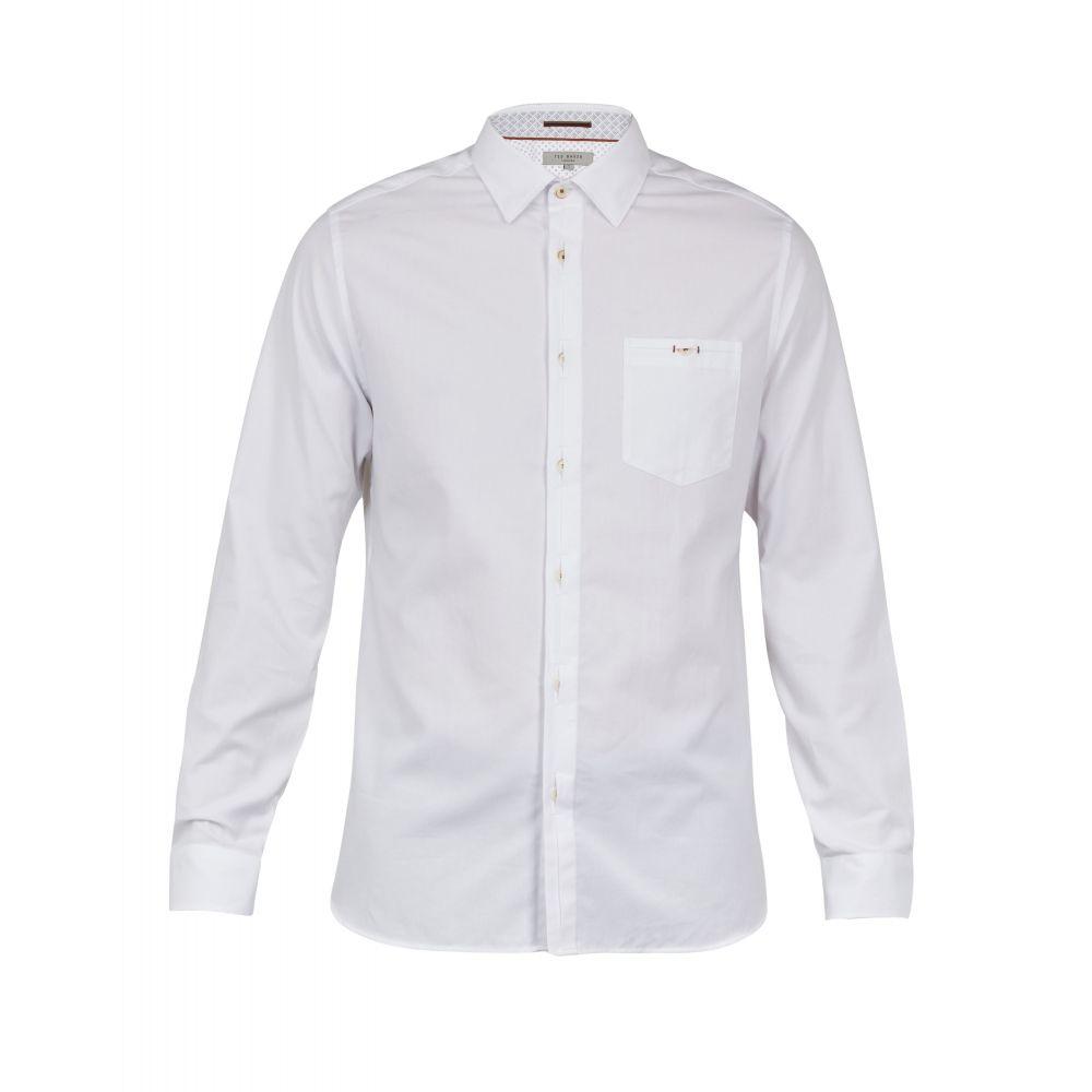 テッドベーカー Ted Baker メンズ トップス シャツ【Brixton Ls Oxford Shirt】white