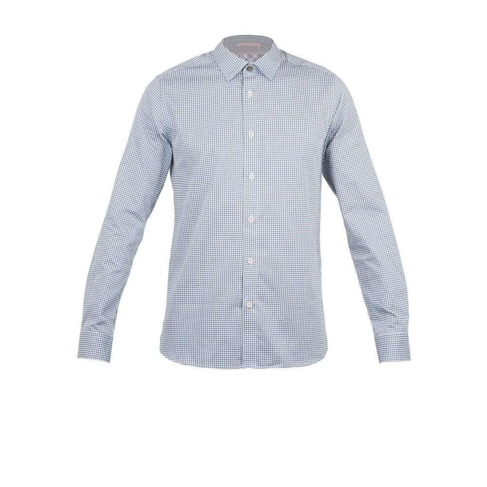 テッドベーカー Ted Baker メンズ トップス シャツ【Jenkins Ls Geo Pronted Shirt】blue