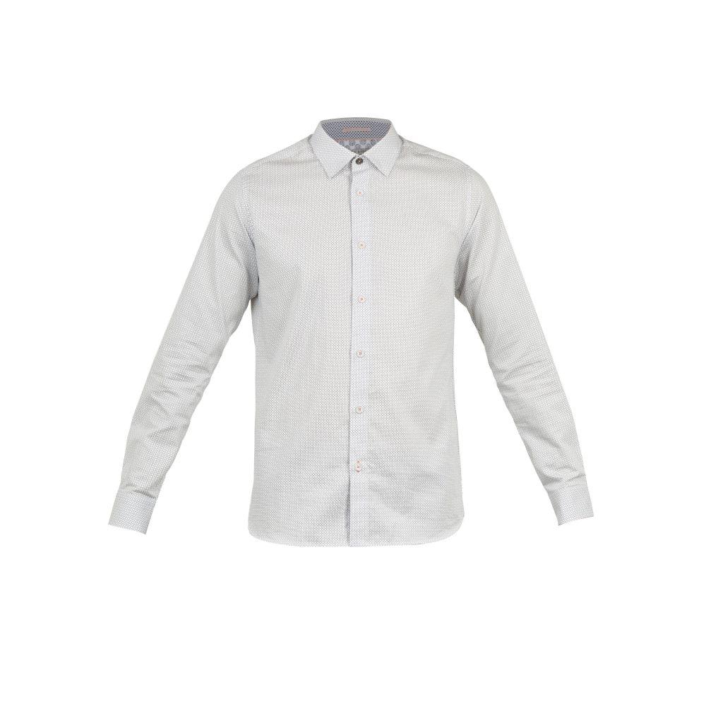 テッドベーカー Ted Baker メンズ トップス シャツ【Jenkins Ls Geo Pronted Shirt】white
