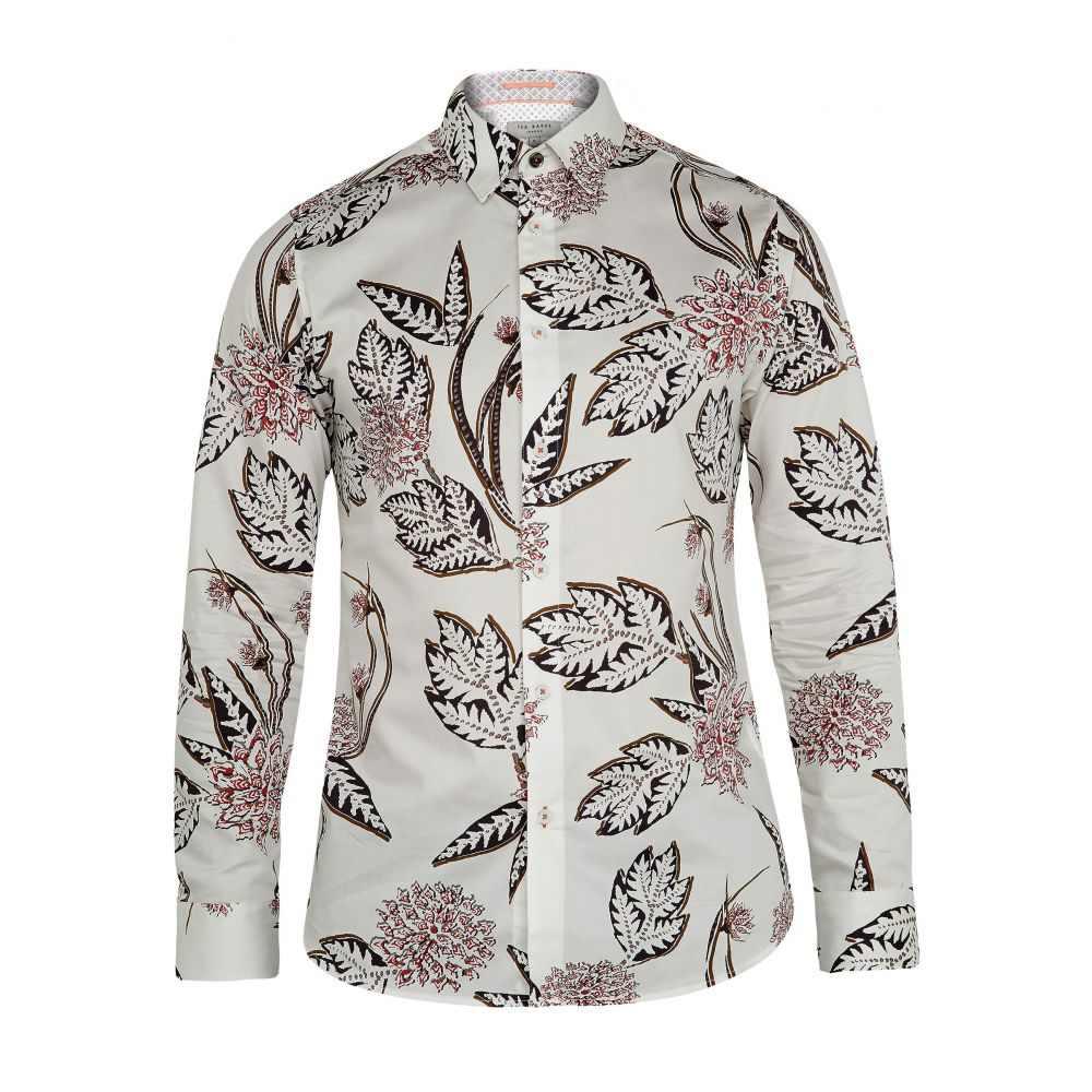 テッドベーカー Ted Baker メンズ トップス シャツ【Notting Floral Print Cotton Shirt】white