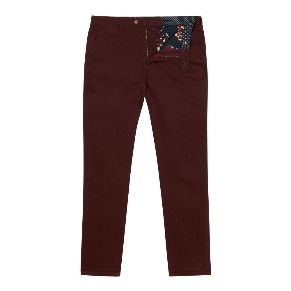 テッドベーカー Ted Baker メンズ ボトムス・パンツ チノパン【Classleb Classic Fit Cotton Chinos】dark red