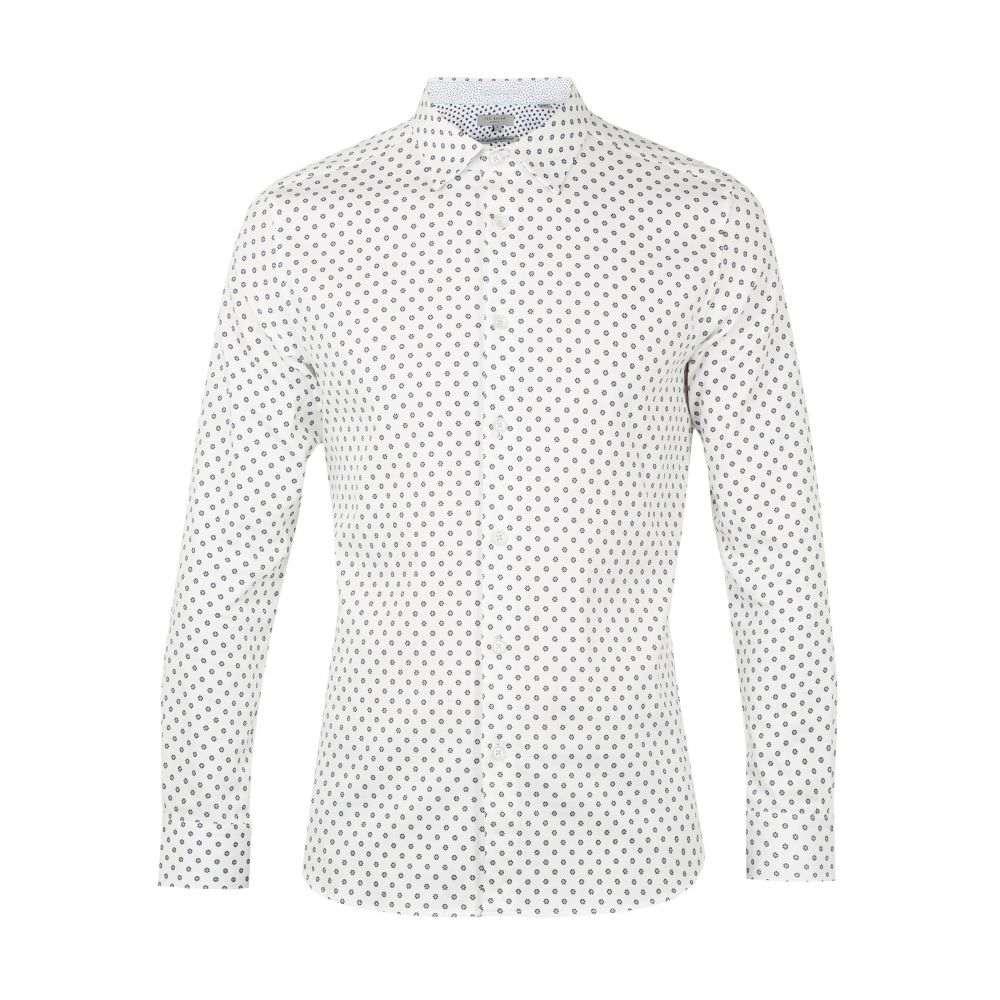 テッドベーカー Ted Baker メンズ トップス シャツ【Hillgat Ls Geo Flower Shirt】white