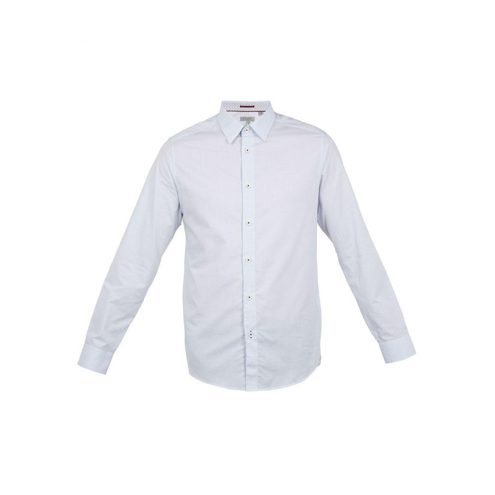 テッドベーカー Ted Baker メンズ トップス シャツ【Myll Ls Small Textured Shirt】white