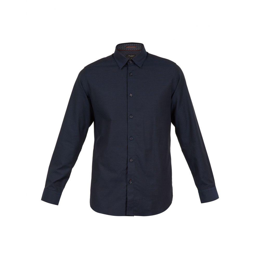 テッドベーカー Ted Baker メンズ トップス シャツ【Myll Ls Small Textured Shirt】navy