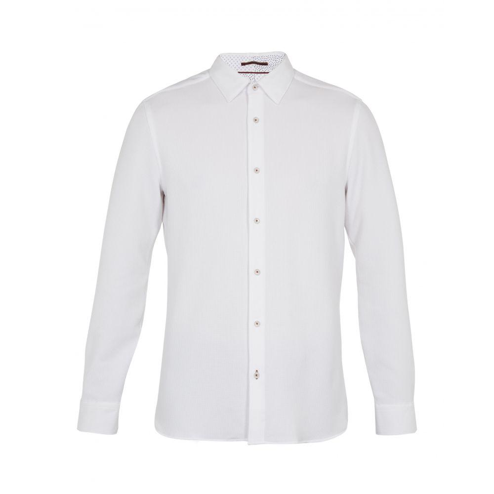 テッドベーカー Ted Baker メンズ トップス シャツ【Piccadi Ls Texture Shirt】white