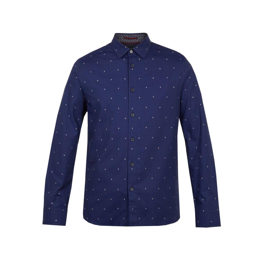 テッドベーカー Ted Baker メンズ トップス シャツ【Peckham Ls Filcoupe Move On Shirt】navy