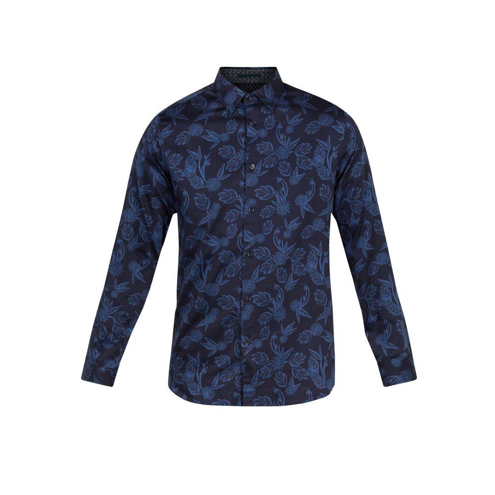 テッドベーカー Ted Baker メンズ トップス シャツ【Holborn Ls Tonal Printed Shirt】navy