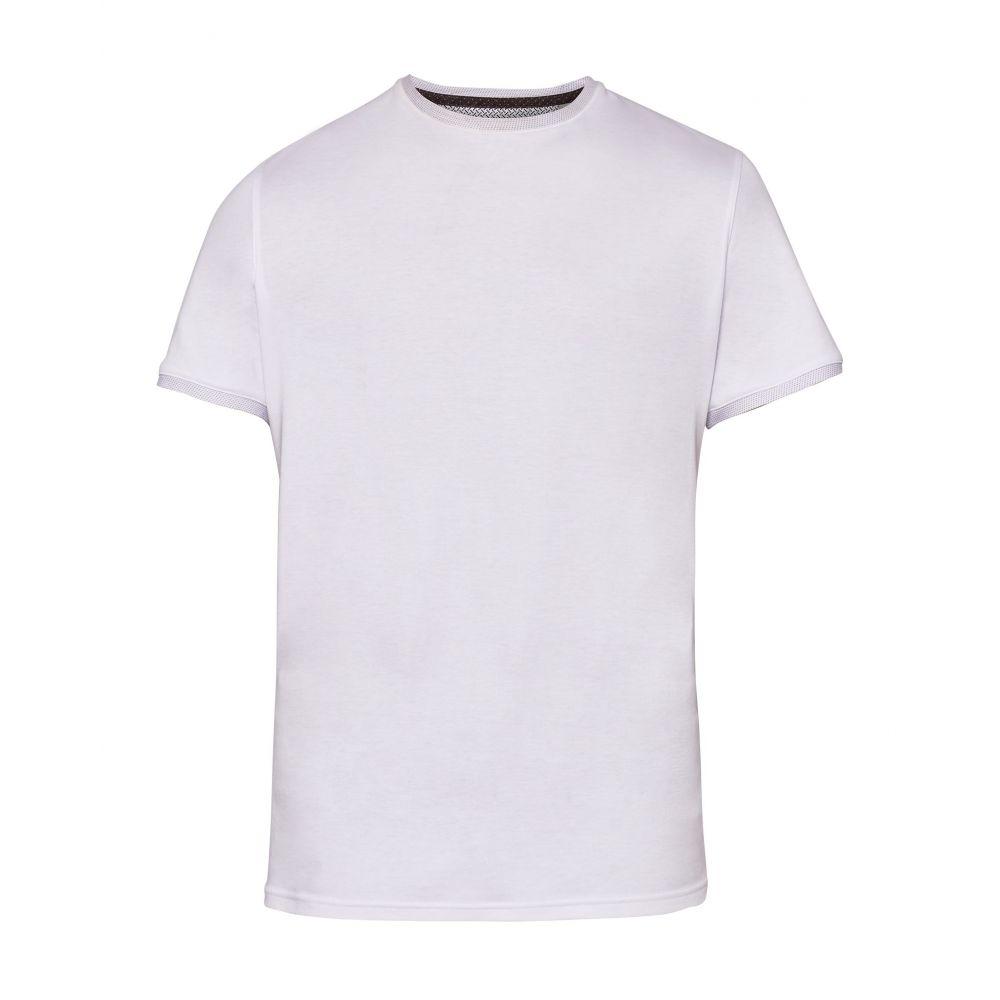 テッドベーカー Ted Baker メンズ トップス Tシャツ【Fryegg Crew Neck Cotton T-shirt】white