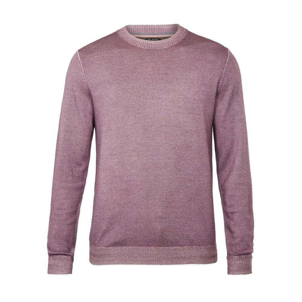 テッドベーカー Ted Baker メンズ トップス ニット・セーター【Newab Garment-dyed Wool Jumper】purple