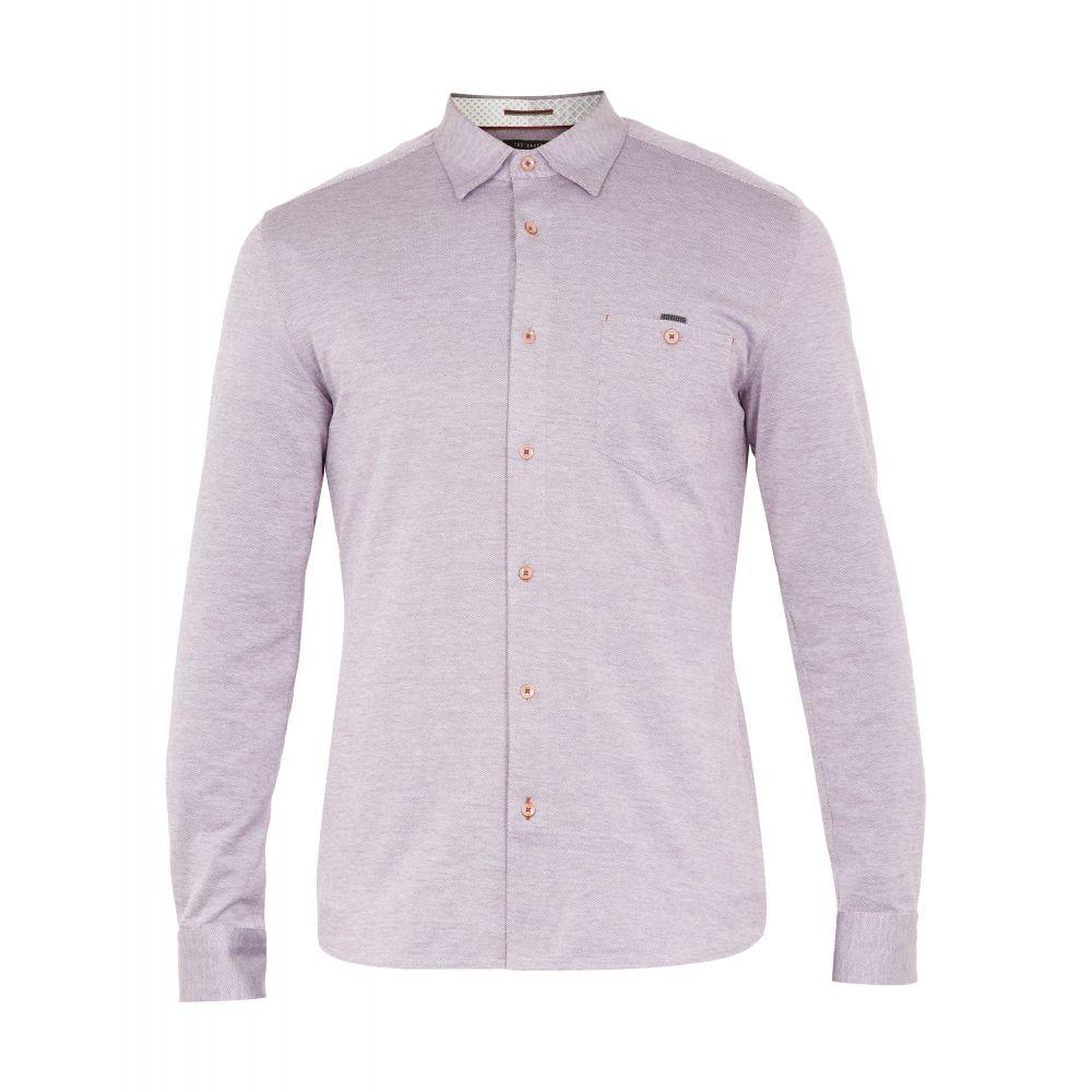 テッドベーカー Ted Baker メンズ トップス シャツ【Timothy Ls Jersey Shirt】purple