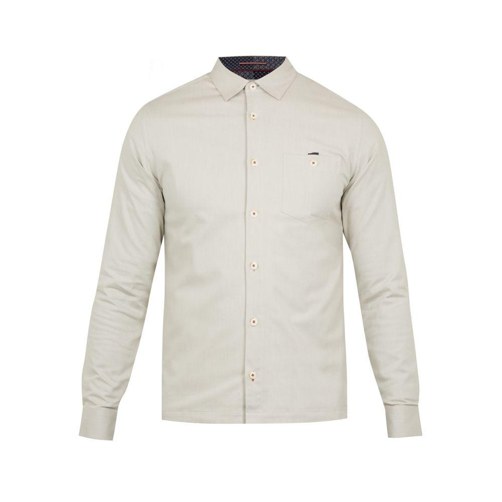 テッドベーカー Ted Baker メンズ トップス シャツ【Oxfords Ls Twill Overshirt】natural